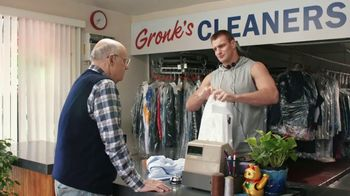 Tide PODS Plus Downy TV Spot, 'Customers Come First at Gronk's Cleaners' - 909 commercial airings