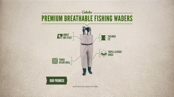 Cabela's TV Spot, 'Every Day Value Products: Breathable Fishing Waders' - Thumbnail 8