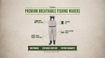 Cabela's TV Spot, 'Every Day Value Products: Breathable Fishing Waders' - Thumbnail 9