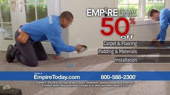 Empire Today 50-50-50 Sale TV Spot, 'Don't Miss It' - Thumbnail 5