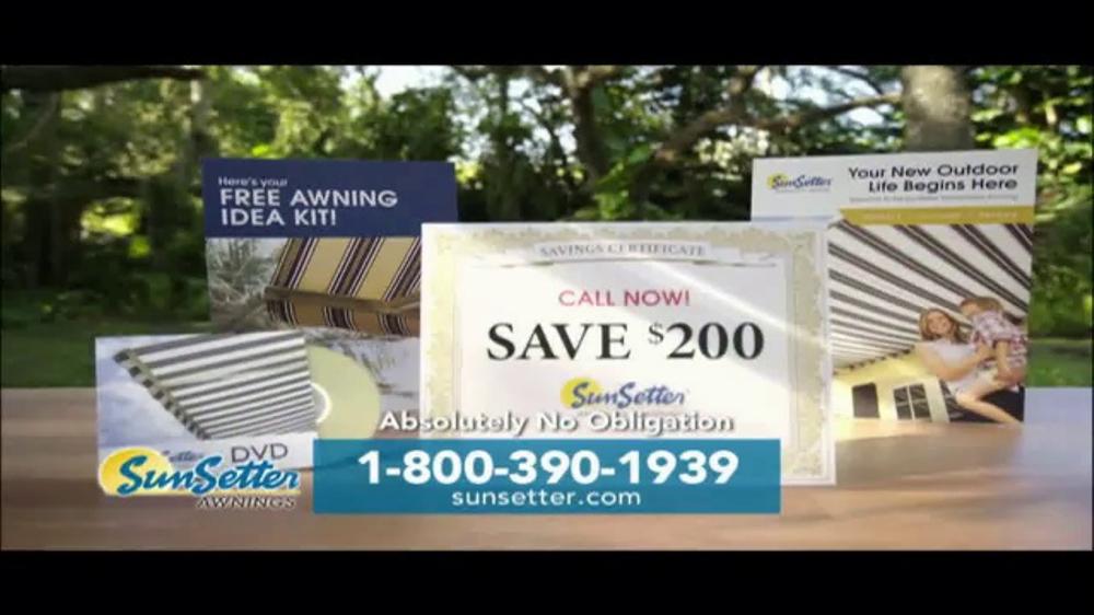 SunSetter TV Commercial, 'Instant Shade' - iSpot.tv