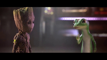 GEICO TV Spot, 'Guardians of the Galaxy Vol. 2: Groot and Gecko Team Up' - 1437 commercial airings