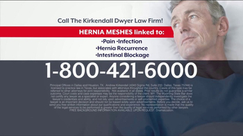 Kirkendall Dwyer LLP TV Spot, 'Hernia Mesh Implant' - Thumbnail 5