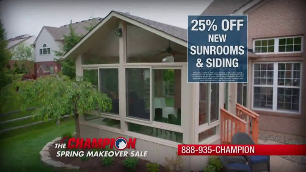 f711aabbe505e6 Champion Windows Spring Makeover Sale TV Commercial