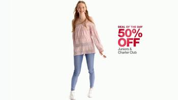 Macy's One Day Sale TV Spot, 'Juniors Denim, Dresses and Suits' - Thumbnail 4