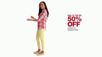 Macy's One Day Sale TV Spot, 'Juniors Denim, Dresses and Suits' - Thumbnail 5