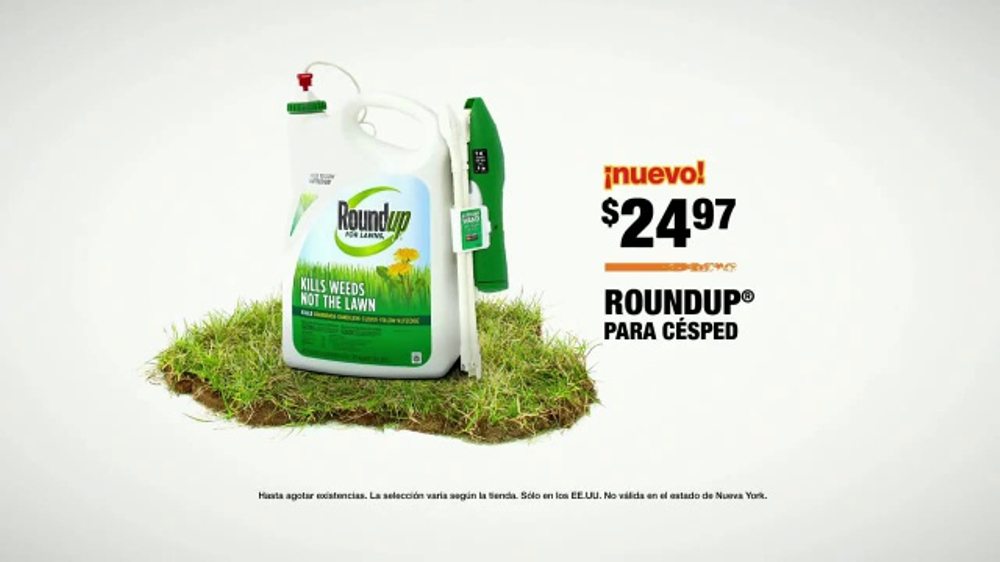 The Home Depot TV Commercial, 'C??sped verde: Roundup'