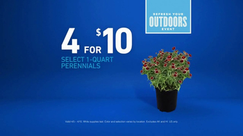Lowe's Refresh Your Outdoors Event TV Spot, 'The Moment: Perennials' - Thumbnail 7