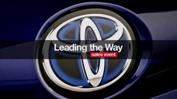 Toyota Leading the Way Sales Event TV Spot, 'Best Resale Value' [T2] - Thumbnail 1