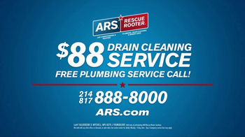 ARS Rescue Rooter Drain Cleaning Service TV Spot, 'Clogged Drains Special' - Thumbnail 7