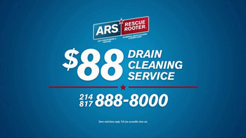 ARS Rescue Rooter Drain Cleaning Service TV Spot, 'Clogged Drains Special' - Thumbnail 4