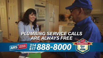 ARS Rescue Rooter Drain Cleaning Service TV Spot, 'Clogged Drains Special' - Thumbnail 6