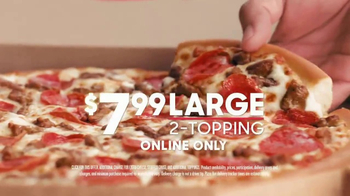 Pizza Hut $7.99 2-Topping Pizza TV Spot, 'Delivery Tracker' - Thumbnail 4