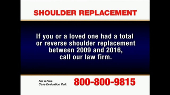Pulaski & Middleman TV Spot, 'Shoulder Replacement' - Thumbnail 2