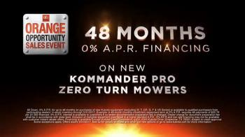 Kubota Orange Opportunity Sales Event TV Spot, 'Kommander Pro Mower' - Thumbnail 3