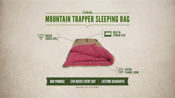 Cabela's TV Spot, 'Every Day Value Products: Mountain Trapper Sleeping Bag' - Thumbnail 5