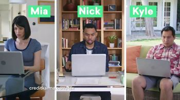 Credit Karma Tax TV Spot, 'Mia, Nick and Kyle' - 649 commercial airings