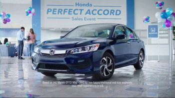 Honda Perfect Accord Sales Event TV Spot, 'Celebrate: 2017 Accord LX' [T2] - 1516 commercial airings