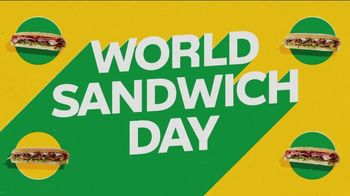 Subway World Sandwich Day TV Spot, 'Global Live Feed Event' - 1402 commercial airings