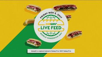 Subway World Sandwich Day TV Spot, 'Global Live Feed Event' - Thumbnail 6