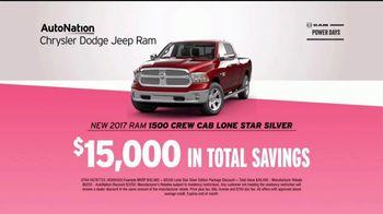 AutoNation Ram Power Days TV Spot, 'Ram 1500 or Jeep Renegade' - Thumbnail 6
