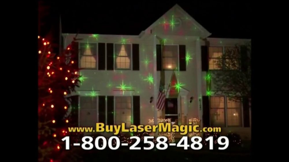 Star shower laser magic tv commercial 39 decorate for the holidays 39 for Star shower projecteur