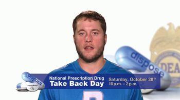 DEA TV Spot, '2017 Prescription Drug Take Back Day' Feat. Matthew Stafford - Thumbnail 2