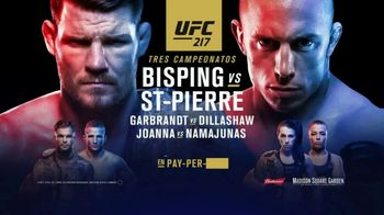 UFC 217 TV Spot, 'Bisping vs. St-Pierre: Leyendas' [Spanish] - 41 commercial airings