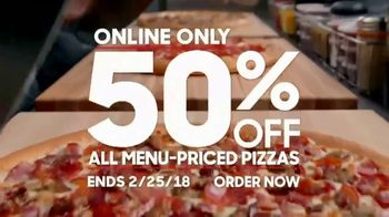 Pizza Hut TV Spot, '50 Percent Off Menu-Priced Pizzas'