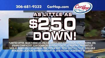 CarHop Auto Sales & Finance TV Spot, '$250 Down & Customer Protection Plan' - Thumbnail 1