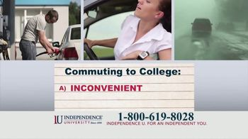 Independence University TV Spot, 'Pop Quiz: Commuting to College' - Thumbnail 1