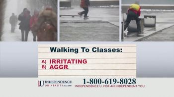 Independence University TV Spot, 'Pop Quiz: Commuting to College'