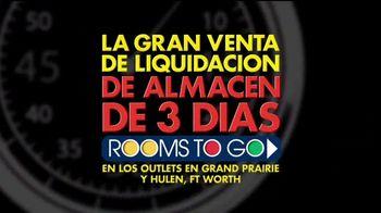 Rooms to Go Gran Venta de Liquidación TV Spot, 'Rebajado' [Spanish] - Thumbnail 2