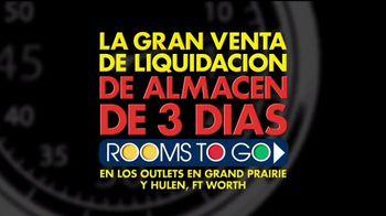 Rooms to Go Gran Venta de Liquidación TV Spot, 'Rebajado' [Spanish] - Thumbnail 3