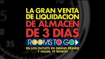 Rooms to Go Gran Venta de Liquidación TV Spot, 'Rebajado' [Spanish] - Thumbnail 4