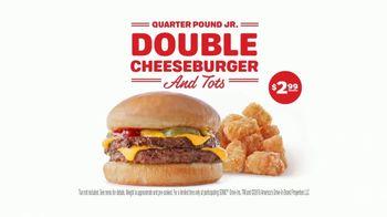 Sonic Quarter Pound Jr. Double Cheeseburger and Tots TV Spot, 'Double Take' - Thumbnail 9