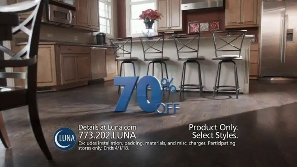 Luna Flooring 70 Percent Off Sale Tv Commercial