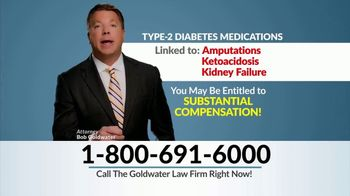 Goldwater Law Firm TV Spot, 'Type 2 Diabetes Medications' - Thumbnail 4