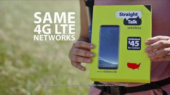 Straight Talk Wireless TV Spot, 'Same Towers for Less!: Samsung Galaxy S8'