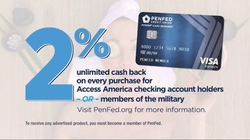 PenFed Power Cash Rewards VISA Card TV Spot, 'Unlimited Cash Back' - Thumbnail 5