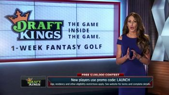 DraftKings 1-Week Fantasy Golf TV Spot, 'Free Contest' Feat. Holly Sonders - Thumbnail 1