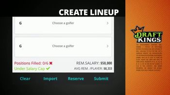 DraftKings 1-Week Fantasy Golf TV Spot, 'Free Contest' Feat. Holly Sonders - Thumbnail 4
