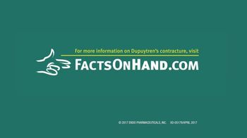 Endo Pharmaceuticals TV Spot, 'Dupuytren's Contracture: Hand Is Talking' - Thumbnail 7