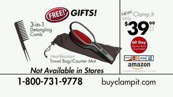 Clamp.It Ceramic Styling Brush TV Spot, 'Easier Way to Straighten Hair' - Thumbnail 10