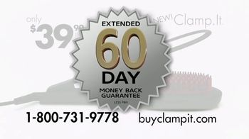 Clamp.It Ceramic Styling Brush TV Spot, 'Easier Way to Straighten Hair' - Thumbnail 8