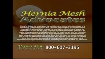 Hernia Mesh Advocates TV Spot, 'Health Complications' - Thumbnail 9