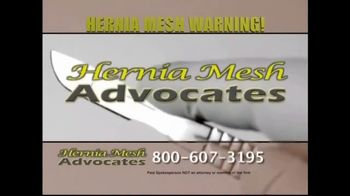 Hernia Mesh Advocates TV Spot, 'Health Complications' - Thumbnail 3