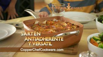 Copper Chef Square Pan TV Spot, 'Sartén versatil' [Spanish]