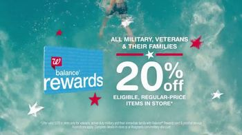 Walgreens TV Spot, 'Summer Needs Help: Military & Veterans Discount' - 6 commercial airings