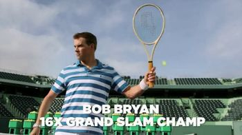 Izod Advantage Performance Polo TV Spot, 'Practice Footage' Feat. Bob Bryan - 124 commercial airings